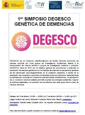 Primer Simposio DEGESCO: Genética de demencias